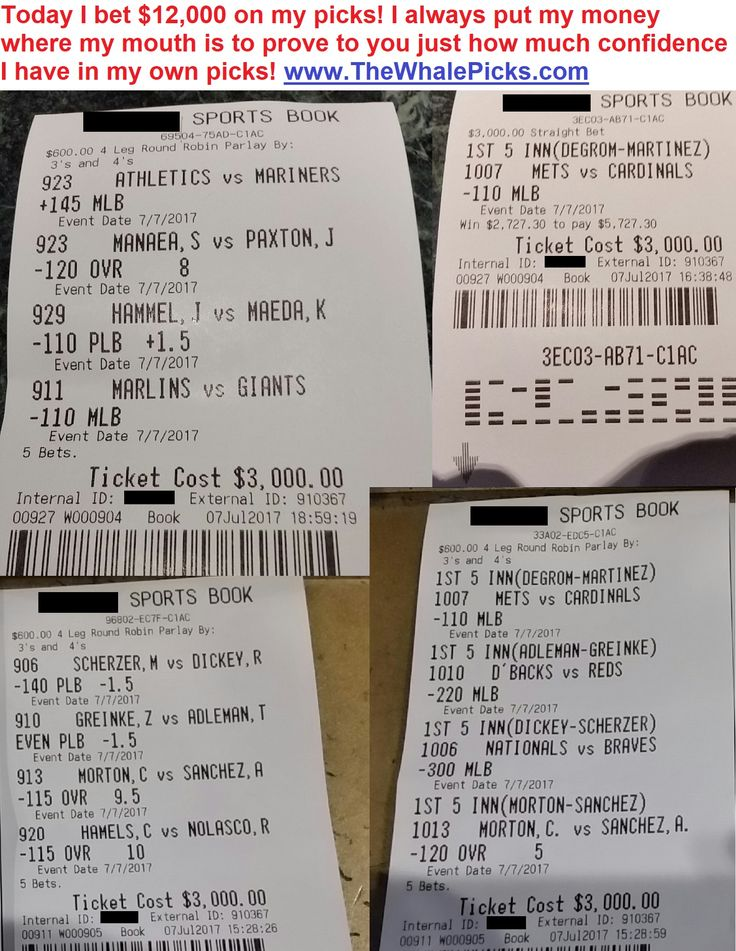 Today I bet $12,000 on my ports picks for July 7, 2017. Every single day, I continue to put my money where my mouth is and bet tens of thousands of dollars on my picks. I want to prove to you that I can win a fortune from betting on sports:  http://www.TheWhalePicks.com/free  #sportspicks #freepicks #sportsbetting #cbb #ncaab #nba #mlb #nfl #gambling #thewhalepicks #baseball #basketball #football #bet #betting #bets