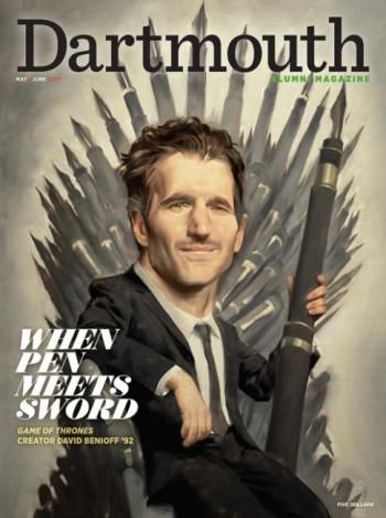 #MagLove 19 May 2017 — the best magazine covers this week — Dartmouth, May June 2017 - David Benioff.