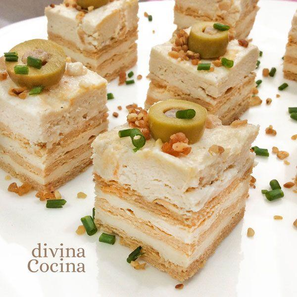 Receta de canap s f ciles con pan de molde canap s for Divina cocina canapes