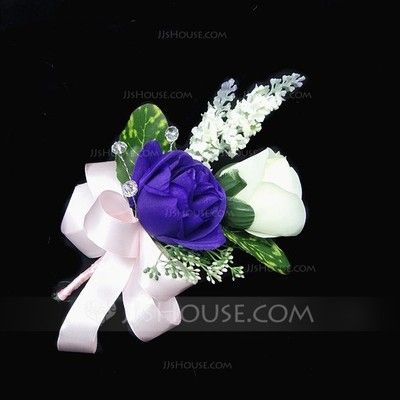 Wedding Flowers - $5.09 - Lovely Free-Form Satin/Cotton Boutonniere (123031425) http://jjshouse.com/Lovely-Free-Form-Satin-Cotton-Boutonniere-123031425-g31425?ver=1