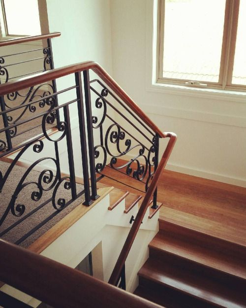 Finished balustrade  #wroughtironbalustrade...