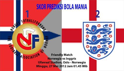 Friendly Match - Pada hari Minggu, 27 Mei 2012, pukul 01.45 WIB, bertempat Ullevaal Stadion, Oslo - Norwegia. Tim nasional Inggris akan dijamu oleh tim nasional Norwegia dalam Friendly Match. Ini adalah satu dari dua pertandingan uji coba yang rencananya akan dilakoni Timnas Inggris sebelum mereka berlaga diajang Piala Eropa pada pertengahan Juni 2012 mendatang.
