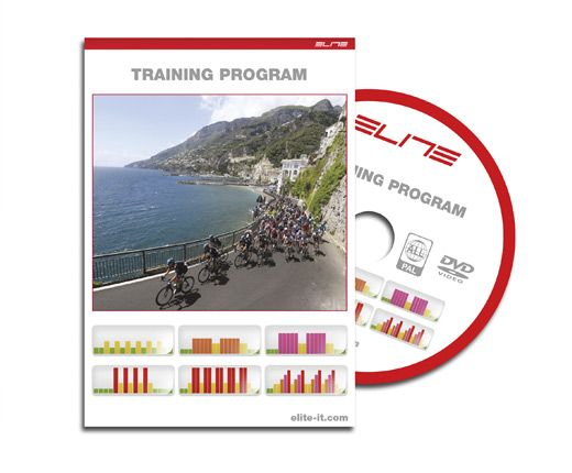 Elite Qubo Power Pack http://www.elite-it.com/qubo-power-pack/  8 levels of progressive resistance.  DVD TRAINING PROGRAM The Pack edition includes a DVD Training Program to enhance the effectiveness and the fun of bicycle training. Choose from among 6 different training programs to maximize performance. The programs guide the user during training, displaying resistance level (where present), pedal cadence and heart rate.