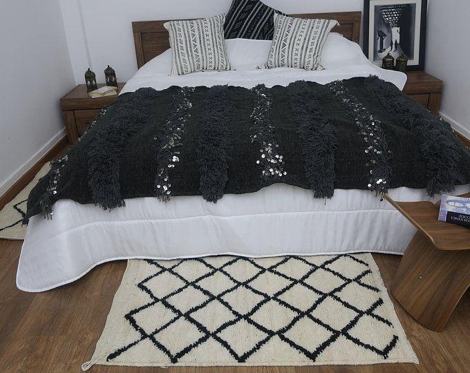 Macrame Bedrunner Boho Bedroom Decor Bedrunner Macrame Etsy In 2020 Moroccan Throw Blanket Boho Bedroom Boho Bedroom Decor