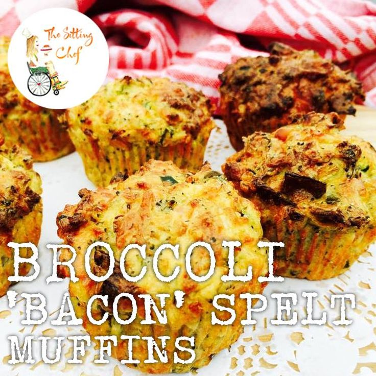 Lunch: Broccoli Spelt Muffins with 'Bacon-strips' from Vegetarian Butcher #nomnomnom #healthysitting #sedentarylife #betterfoodbetterlife