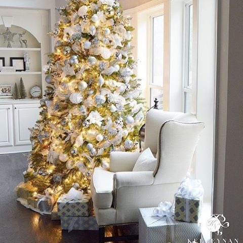 "Happy Saturday friends! If this gorgeous tree doesn't get you in the holiday decorating mood than I don't know what does (ok, maybe the song ""Last Christmas"" by Wham). I can't wait to see what my cute friend Kelley @kelleynan will do this year in her home. Everything she creates is just so beautiful, including her office that she just finished in the #oneroomchallenge. Go check it out along with all her incredible table scape ideas @kelleynan. You can link to her blog from there. Have a…"