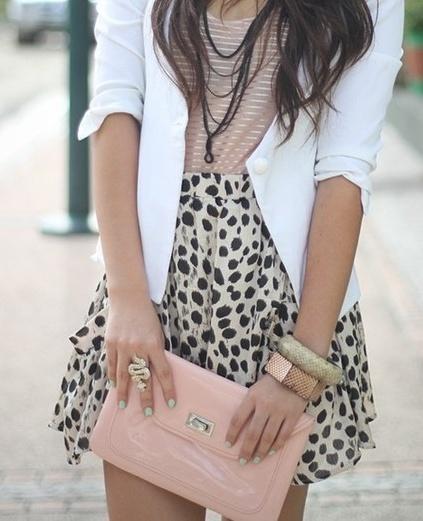 cool combination: Fashion, White Blazer, Style, Dream Closet, Clothes, Outfit, Leopard