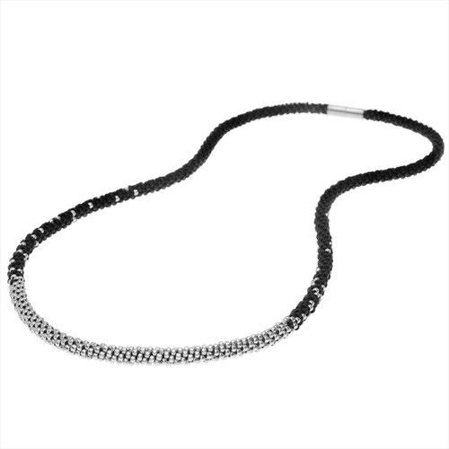 Refill - Long Beaded Kumihimo Necklace - Black & Silver - Exclusive Beadaholique Jewelry Kit - Exclusive Beadaholique Kits - Jewelry Making Kits | Beadaholique