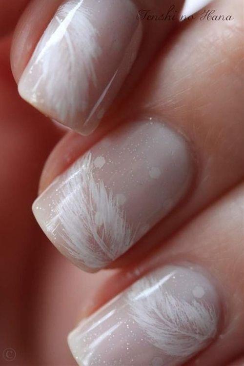 white peacock nails.