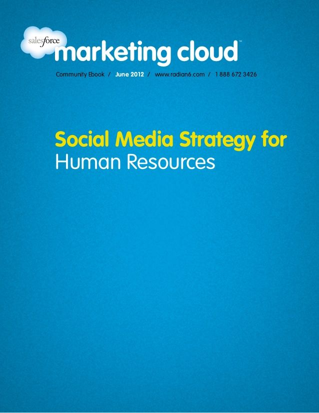 47 best hr images on pinterest human resources productivity and tips social media strategy for human resources by salesforce marketing cloud via slideshare fandeluxe Choice Image