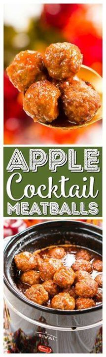 These Apple Cocktail These Apple Cocktail Meatballs are an easy...  These Apple Cocktail These Apple Cocktail Meatballs are an easy party food appetizer thats made in the slow cooker and loaded with flavors that will tantalize your taste buds! Recipe : http://ift.tt/1hGiZgA And @ItsNutella  http://ift.tt/2v8iUYW