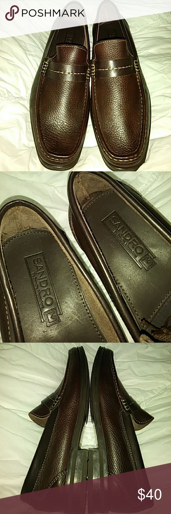 Sandro M brown leather loafers New without box in good clean condition, size 8D Sandro Moscoloni Shoes Loafers & Slip-Ons