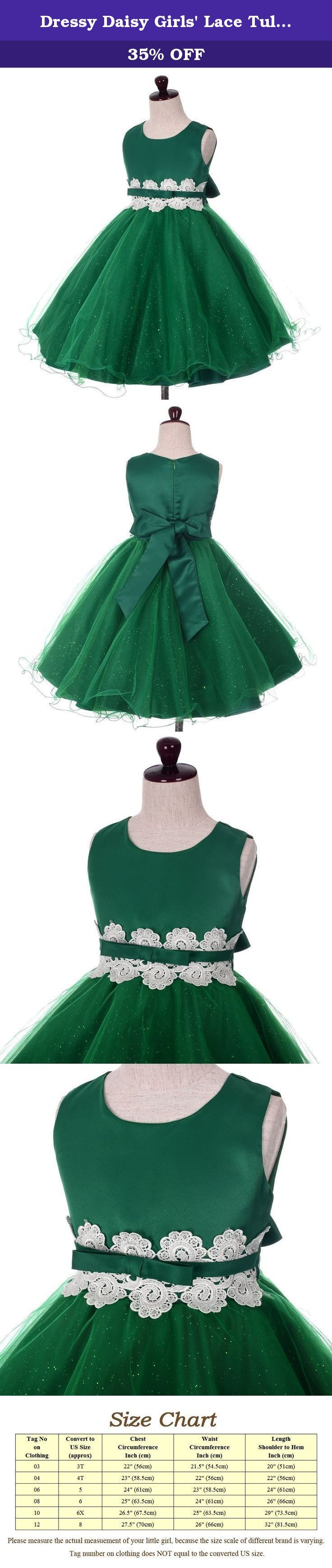Dressy Daisy Girls' Lace Tulle Wedding Flower Girl Dresses Party Formal Occasion Kid Size 6 Green. ** Extra petticoat used in pictures ** It is great for any occasion such as wedding, party, birthday, holiday, and other special events. You and your little princess will love this dress. For the shipments fulfilled by seller, it takes 8-12 working days to deliver. For those buyers who are outside USA, it may takes a little longer time. We offer expedited delivery service as well. For…