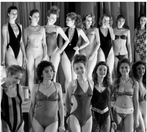 vintage everyday: Pictures of The First Moscow Beauty Contest in USSR, 1988