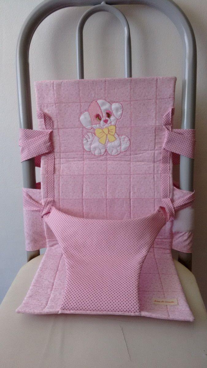 Cadeirinha portátil para meninos e meninas, você pode levar na bolsa e usar em qualquer cadeira, na casa da vovó, da titia, da dinda, dos amigos...Para crianças de 6 meses a dois anos e pouco.. Consulte cores.