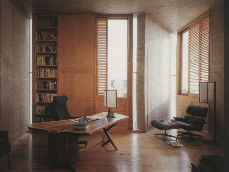 louis kahn / salk institute. interior. timber joinery framing.