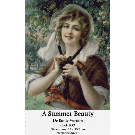 Model goblen A Summer Beauty http://set-goblen.ro/portrete/4129-a-summer-beauty.html