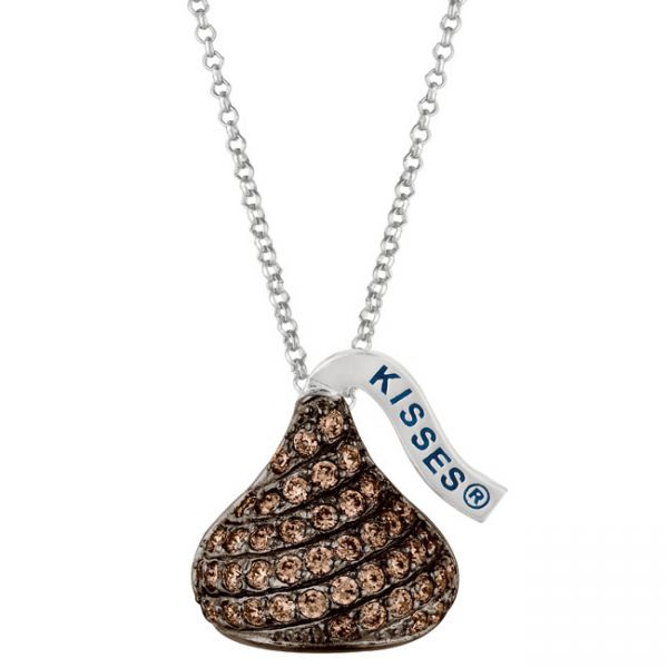 224 best hersheys kisses images on pinterest chocolates sterling silver brown cubic zirconium medium flat back hersheys kiss pendant mozeypictures Choice Image