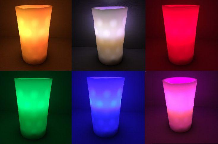 LED Dubbeglas Kerze, Dubbelicht und Dubbekerze mit Farbwechsel