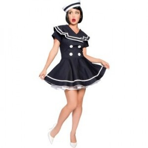 Pin-Up Captain Plus Size Costume - womensplussizecostumes.org