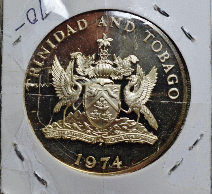 1974 Trinidad and Tobago 5 Dollars Silver Proof Coin 8833 ASW | eBay