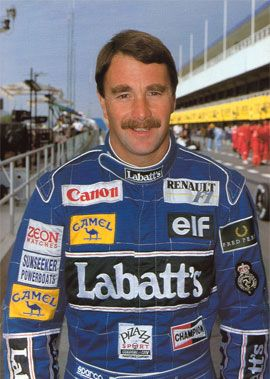 Nigel Mansell. He drove proper F1 cars, with very little technology, before the sport got boring.