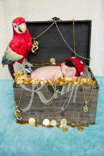 Funny Newborn Photography pirate