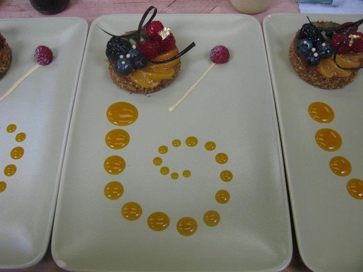 Plated Fruit Tart Dessert Food Plating In 2019