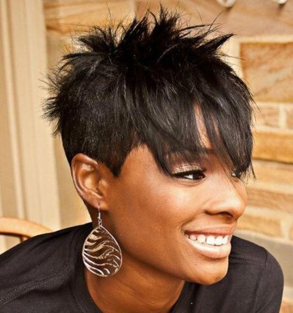 Black Women Beautiful German Blackwomensmakeup Short Sassy Hair Short Spiky Hairstyles Short Hair Styles