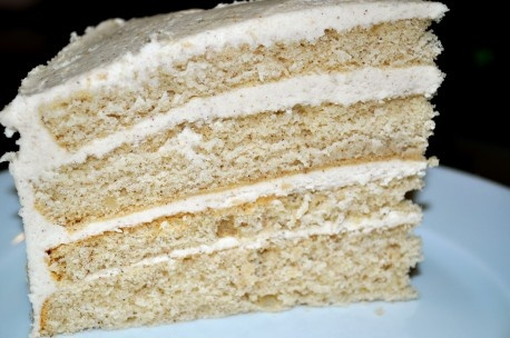 Snicker Doodle Cake mit braunem Zucker Buttercreme Zuckerguss.