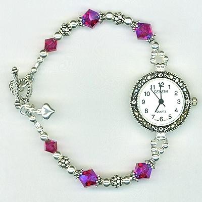 Custom Swarovski Crystal Beaded Watch