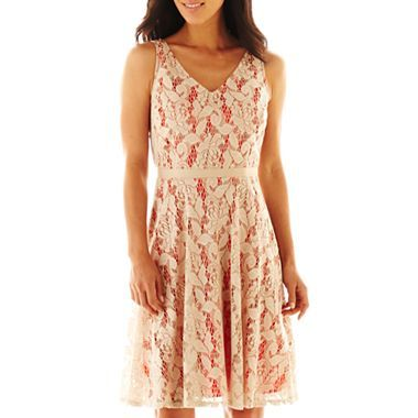 Danny Amp Nicole 174 Lace Fit And Flare Dress Jcpenney