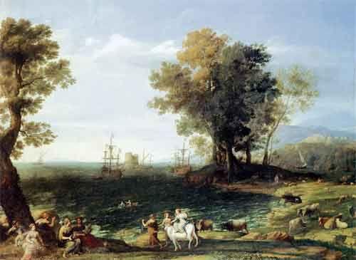 Клод Лоррен. Похищение Европы. 1655. Холст, масло. ГМИИ