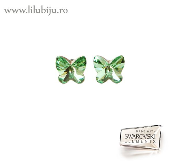 Cercei Swarovski Elements™ - Fluturi Verzi  by LiluBiju (copyright)