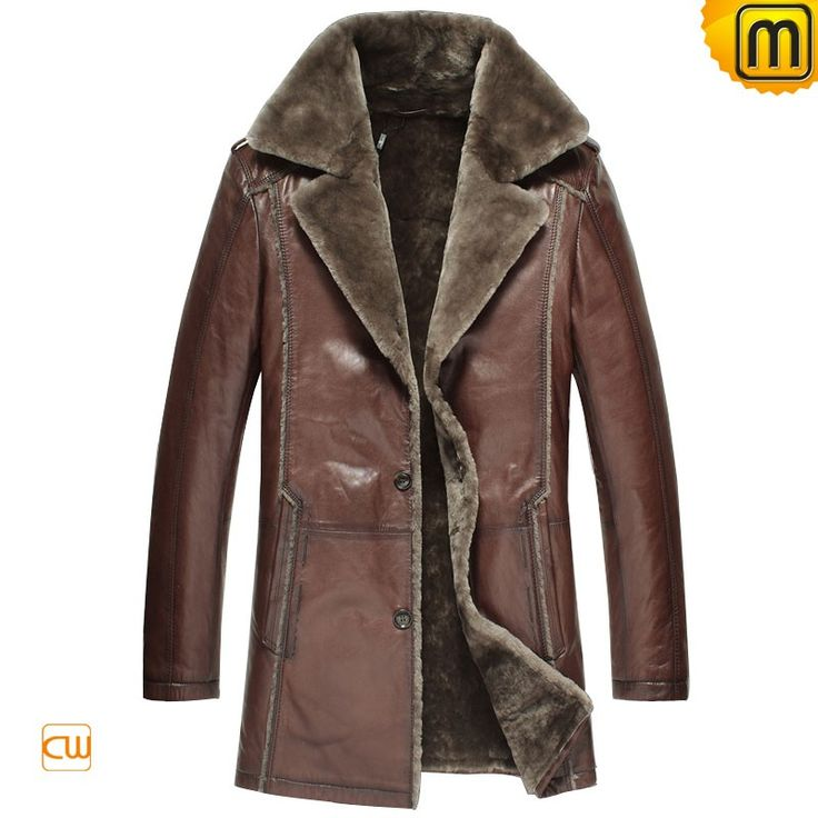 Classic mens designer sheepskin shearling coats, includes