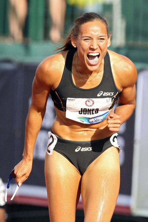 Not only is Lolo Jones the biggest inspiration, she's absolutely gorgeous. Not fair.