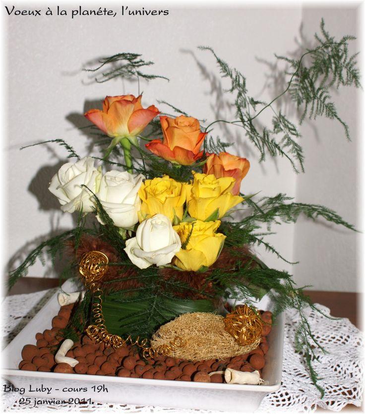 Photo de Karine Luby http://mes101luby.eklablog.com   Fleurs naturelles, Composition florale ...