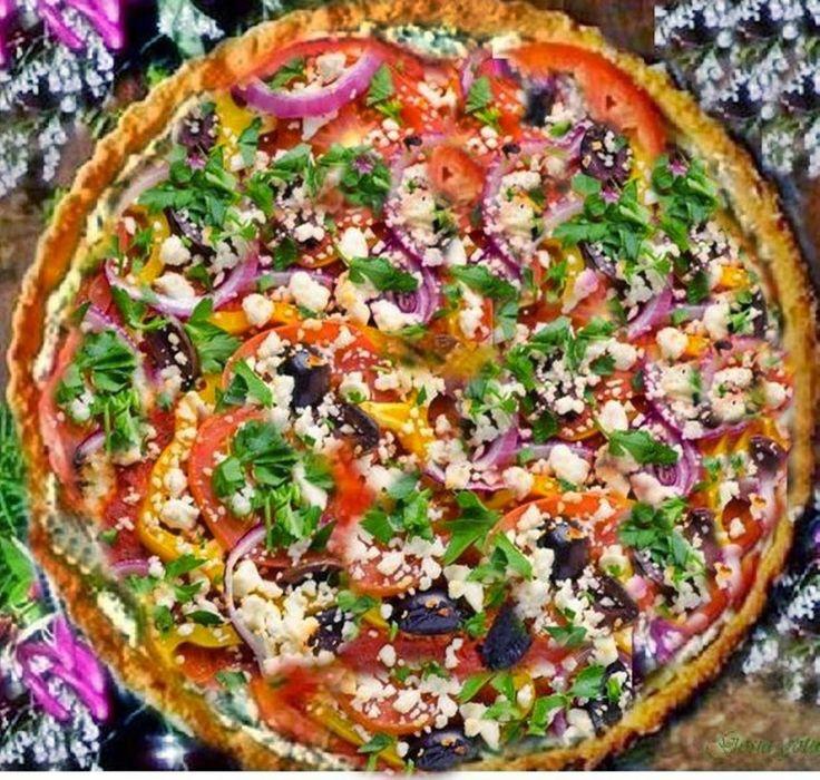 Gosia gotuje: Tarta z serem, łososiem i warzywami