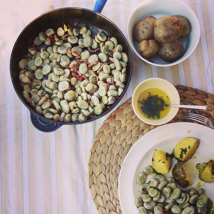 tuinbonen met spek en aardappel (Opperdoezer Ronde) - #naareigensmaak