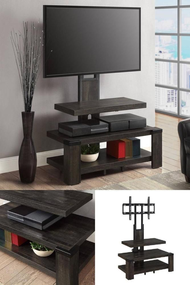 Icymi 50 Flat Tv Stand With Mount Entertainment Center Sturdy Rack