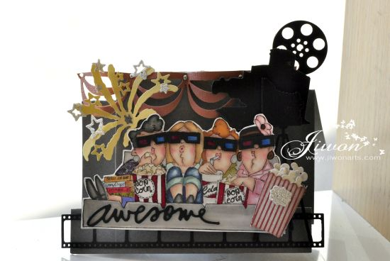 Jiwon Crafts Blog: Movies [Twist and Pop card ]