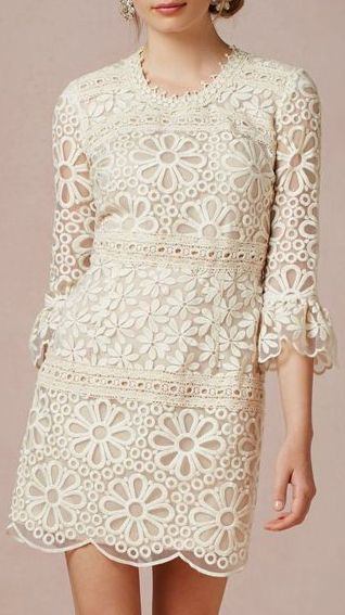 Vintage-inspired cream lace dress for bridesmaids dress???