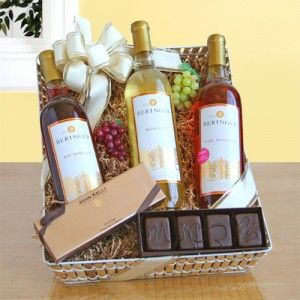 Sweet California Beringer Wine Gift. Sender and recipient will receive NakedWines $50 gift card with purchase.