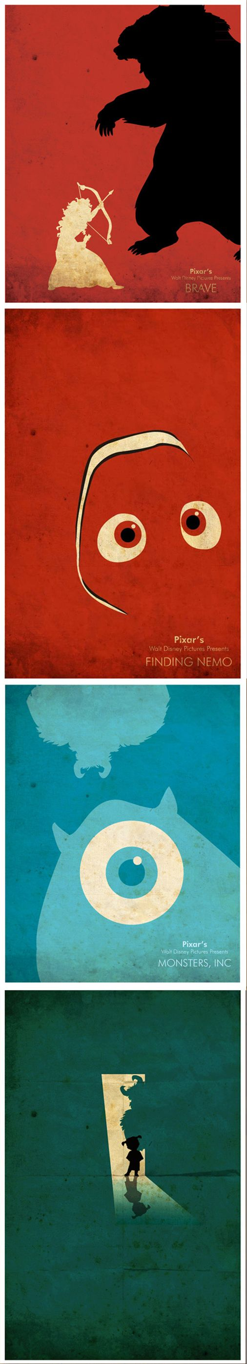 Creative Disney Posters by Edmond. Want to print these and hang them all around my room