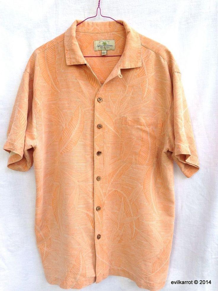 Island Shores Washable Silk Hawaiian Aloha Shirt L #IslandShores #Hawaiian #silk