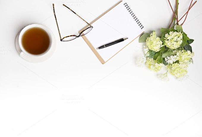 Spring look at the desk, lay flat by Izdebska on @creativemarket