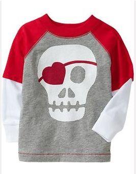Boy's Skull Heart Valentine Shirt - Sugar Bee Crafts