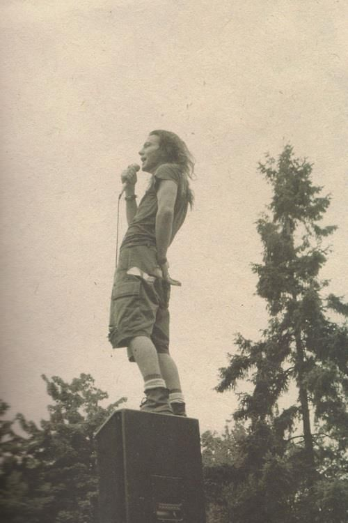 Eddie Vedder // I'm sure I've pinned it a million times but I love this image of EV so much.