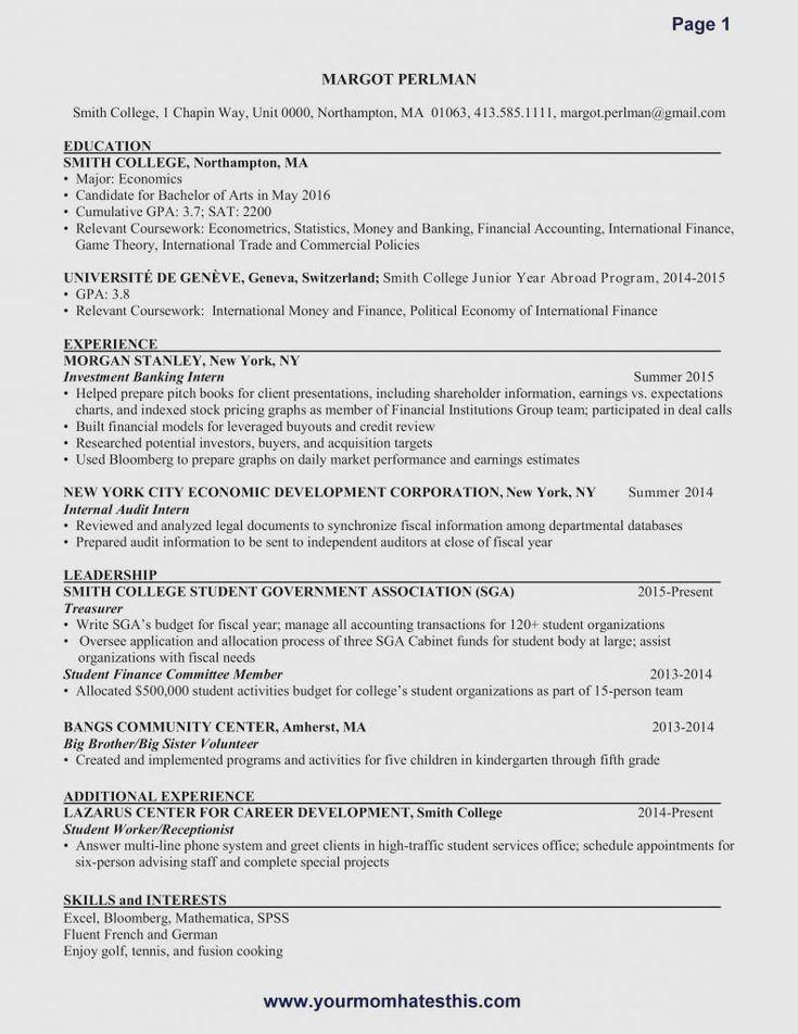 New Grad Nursing Resume Clinical Experience Nursing Resume