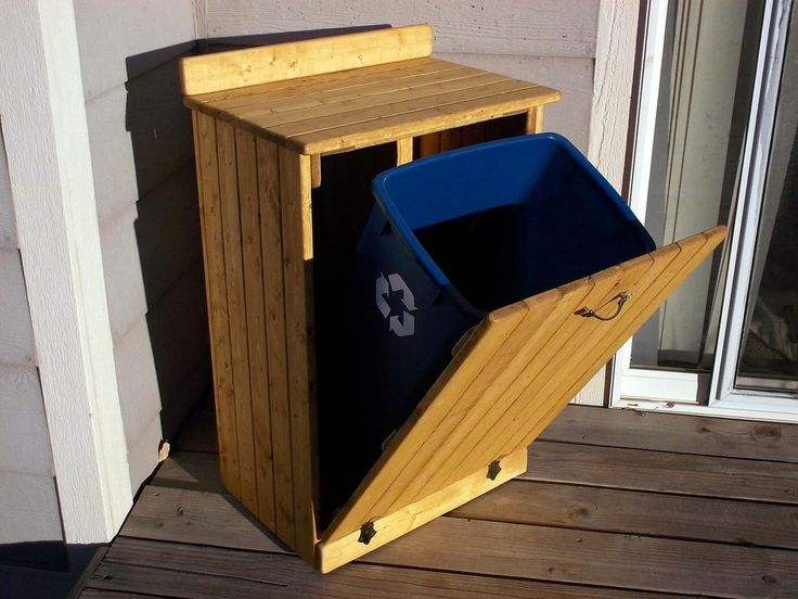 Wooden Trash Can Cover Plans Woodworking Projects Amp Plans